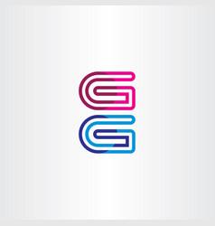 g geometric logo icon element vector image