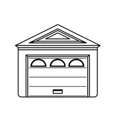 Garage door house vector