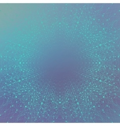 Geometric blue background molecule and vector
