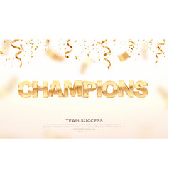 golden word champions winning vector image