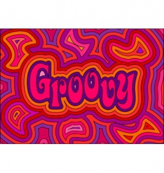 groovy vector image