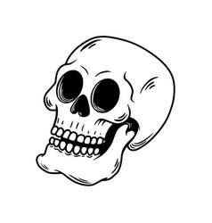 hand drawn skull design element for logo emblem vector image
