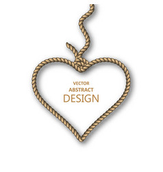 hanging heart from ropes vector image