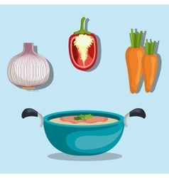 Healthy food vegetables vector image