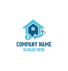 home real estate logo vector image