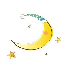 Icon new moon vector