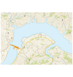 imaginary topographic map vector image