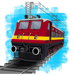 Indian red train engines vector