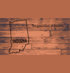 Indiana map brand vector