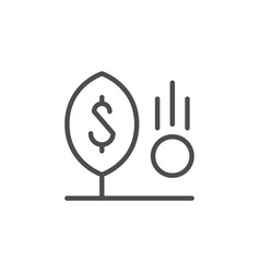 investment line icon and financial concept vector image