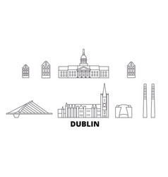 Irland dublin line travel skyline set irland vector