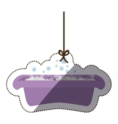 Isolatd baby bath design vector