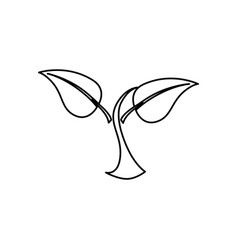 leafs plant isolated icon vector image
