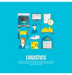 Logistic Icons Flat vector image