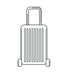 luggage hard case trolley on wheels with pull vector image