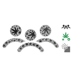 Man group mosaic of cannabis vector