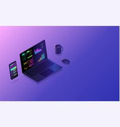 mobile app interface development cross platform vector image
