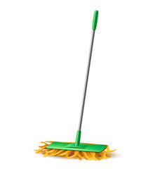 modern mop with fibers for household chores vector image