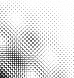 Monochrome abstract square pattern design vector