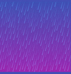 neon colored purple rain drops on blue background vector image