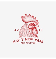 Red rooster year vector