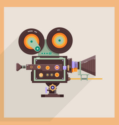 Retro technology icon camcorder professional vector