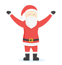 santa claus cartoon style characters vector image