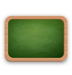 School blackboard in wooden frame vector image