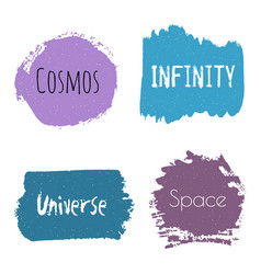 set of cosmos infinity universe space design vector image