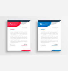 Stylish company letterhead template for business vector