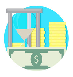 Time and money icon vector