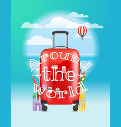 Vacation travelling concept around the world logo vector