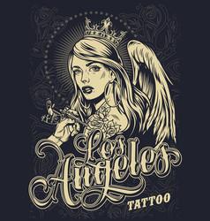 Vintage monochrome tattoo festival poster vector