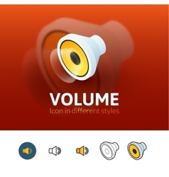 Volume icon in different style vector image