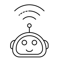 Wireless assistant icon outline style vector