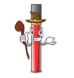 Witch lip gloss in dompeet mekaup cartoons vector