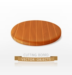 Wooden cutting board isolated on a white backgroun vector