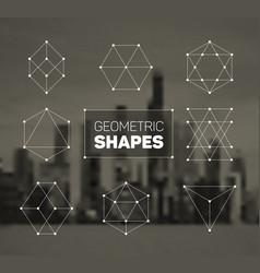 abstract regular geometric shapes set vector image