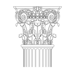 classic column vector image vector image
