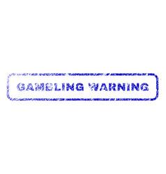 Gambling warning rubber stamp vector