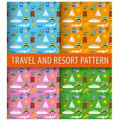 patterns of resort vector image vector image