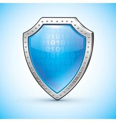 Shield protection symbol safety emblem vector image vector image