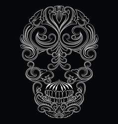 Skull Line Ornament vector image vector image