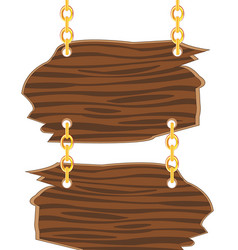 two boards on golden chain vector image