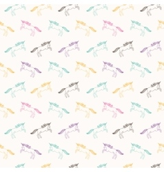 Unicorns Seamless vector image vector image