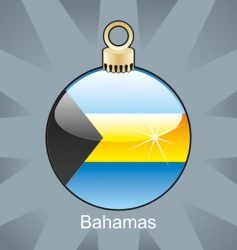 Bahamas flag on bulb vector image