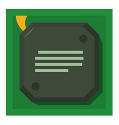 chip icon cartoon style vector image