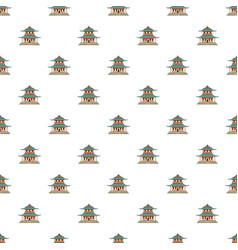pagoda pattern seamless vector image