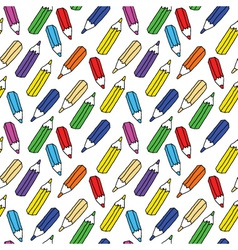 seamless pattern of many colored pencils vector image vector image