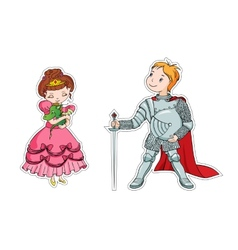 The little princess and the little knight vector